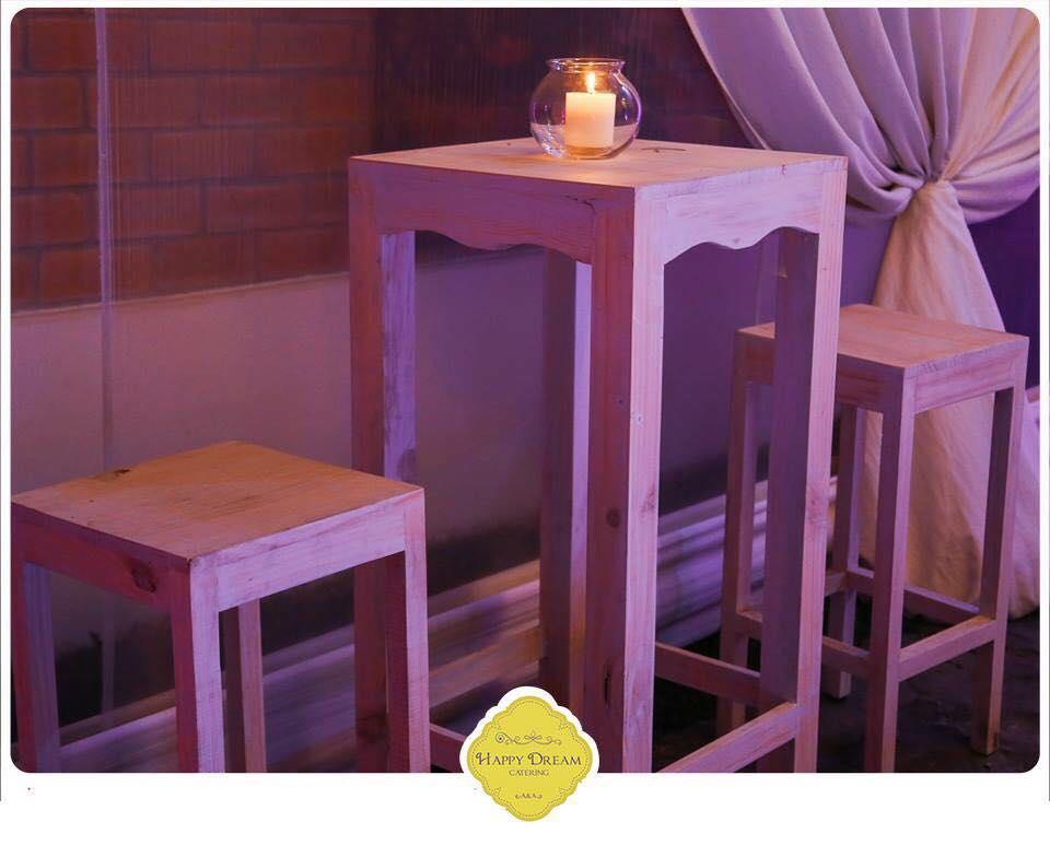 alquiler de mesas altas bar